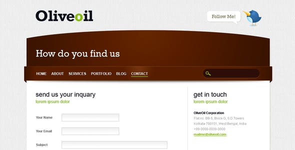 Oliveoil - Simple Portfolio Template