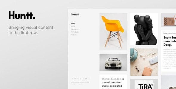 Huntt - Personal Blog / Portfolio WordPress Theme - Creative WordPress