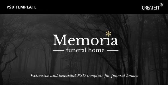 Memoria - Funeral Home PSD Template