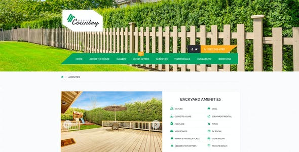 Houses - Vacation Rentals HTML Template