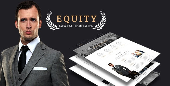 Equity - Elegant Lawyer and Attorney PSD Template - Creative Photoshop