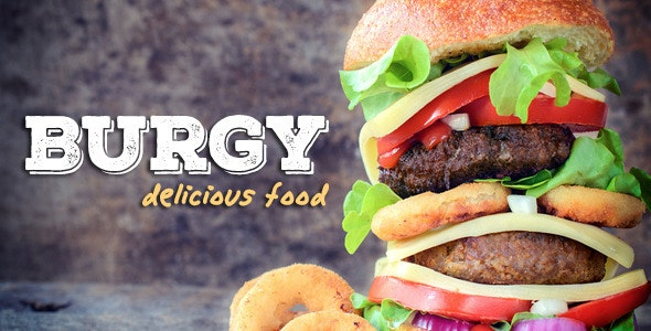 BURGY - Fast Food, Burgers, Pizzas, Salads WordPress - Food Retail