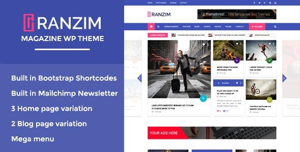 Ranzim - Responsive Magazine WordPress Theme