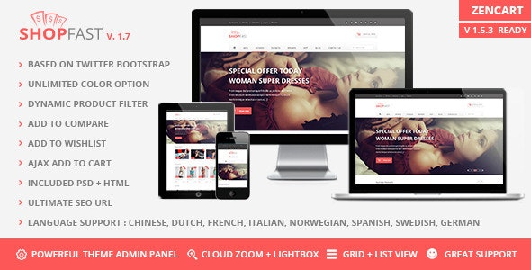 Shopfast - Responsive Zencart Template - Shopping Zen Cart