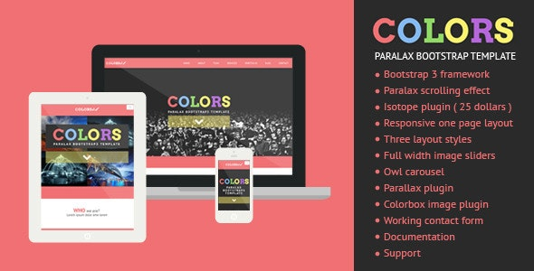 Colors - Paralax Bootstrap HTML5 Template - Creative Site Templates