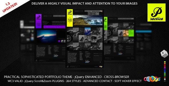 Practica Portfolio - Sophisticated Theme - Portfolio Creative