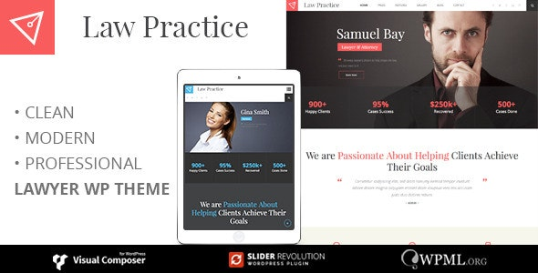 LAWPRACTICE | Lawyer Responsive Wordpress Theme - Business Corporate