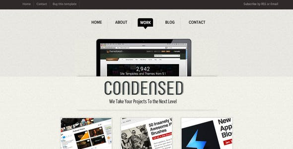 Condensed - HTML Template