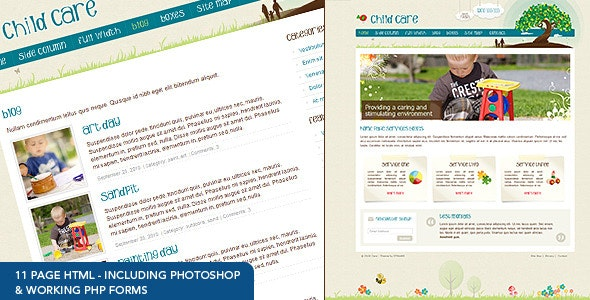 Child Care Creative - 11 page HTML - Children Retail