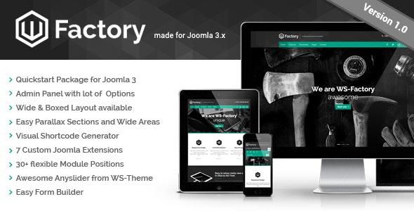 WS-Factory - Multipurpose Joomla Template - Business Corporate
