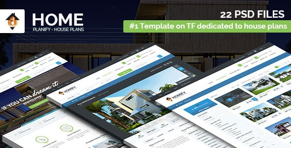 Home Planify - House Plans & Construction PSD template - Corporate Photoshop