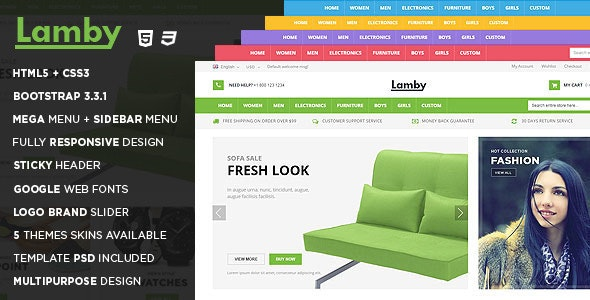 Lamby - Responsive Multipurpose HTML5 Template - Fashion Retail