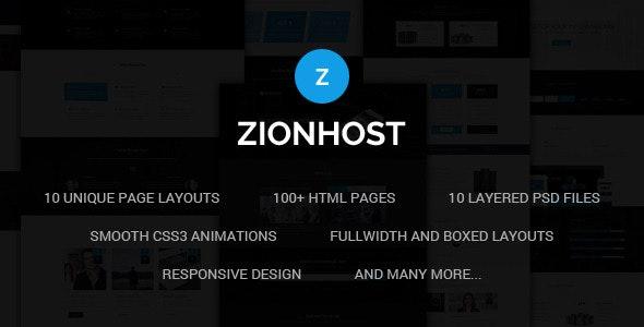 ZionHost - Web Hosting, Responsive HTML5 Template - Hosting Technology