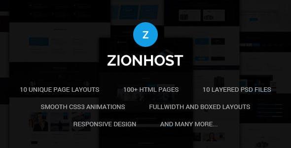 ZionHost - Web Hosting, Responsive HTML5 Template