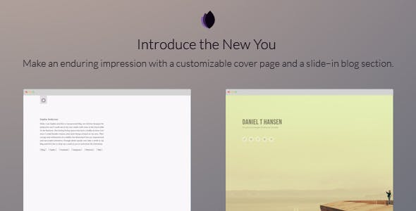 Landing Page Blogger Template