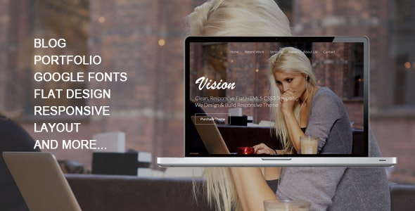 Vision - Responsive One Page Template - Site Templates