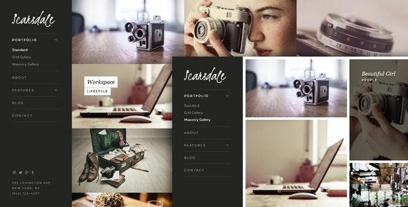 Scarsdale – Responsive HTML5 Photography Portfolio - Photography Creative