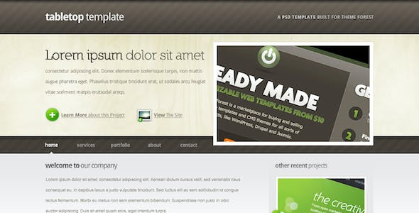 Tabletop PSD Template - 5 pages, 5 colors