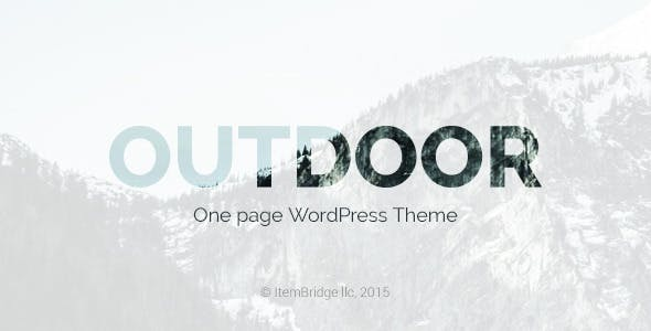 Outdoor — One Page Responsive WordPress Theme