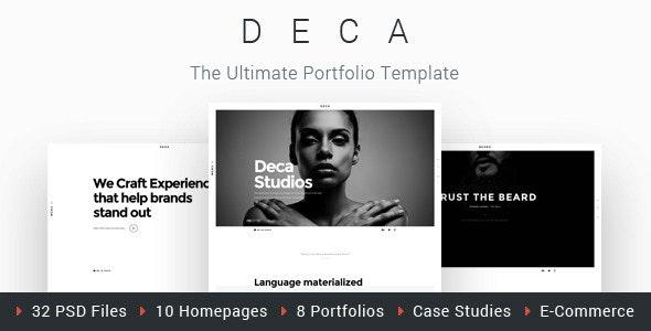 DECA - Creative Multi Concept Portfolio Template - Creative Photoshop