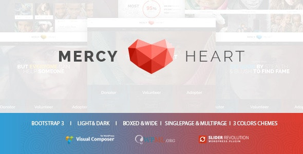 Mercy Heart - Modern Charity WordPress Theme - Charity Nonprofit