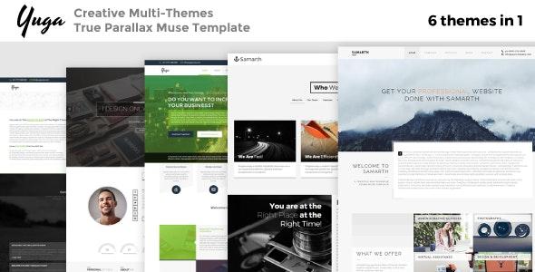 Yuga: 6-in-1 Creative Multipurpose True Parallax Muse Template - Creative Muse Templates