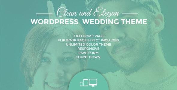 Ulemulem  3in1 - Clean Modern Simple Wedding Invitation WordPress Theme - Wedding WordPress