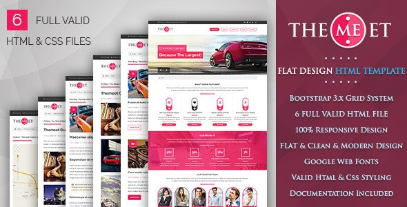 Themeet - Responsive Html Blog Template - Personal Site Templates