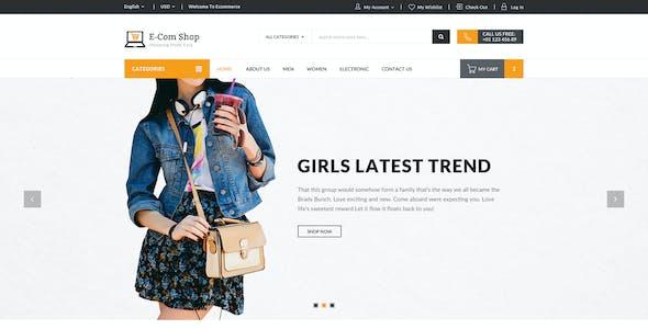 E-com Shop - eCommerce Shopping PSD Template