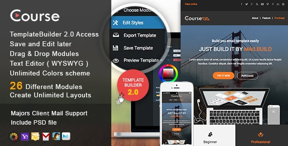 Course - Responsive Email + MailBuild Online - Newsletters Email Templates