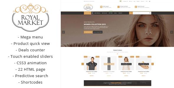 Royal Market - Responsive HTML5 Shopping Template - Fashion Retail