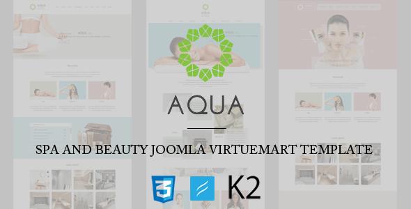 Aqua - Spa and Beauty Joomla VirtueMart Template - VirtueMart Joomla