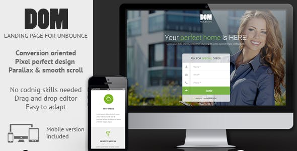 DOM - Real Estate Unbounce Landing Page