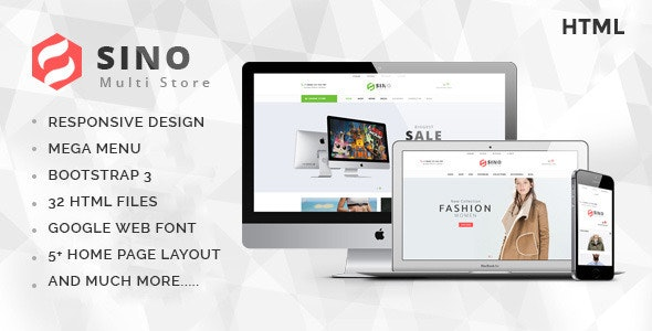 Sino - Fashion Electronics Store HTML Template - Shopping Retail