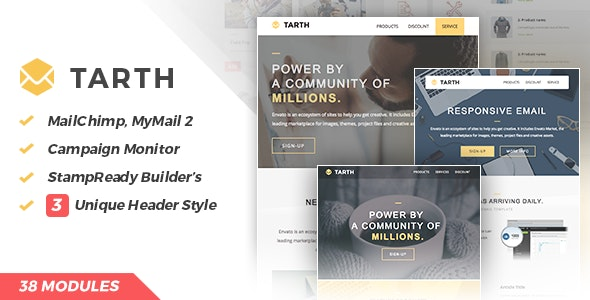 Tarth | Marketing Email - Newsletters Email Templates