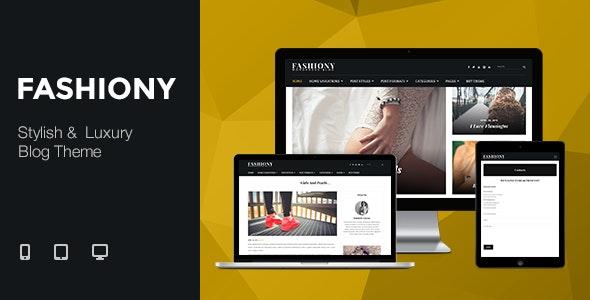 Fashiony - Stylish & Luxury Blog Theme - Blog / Magazine WordPress