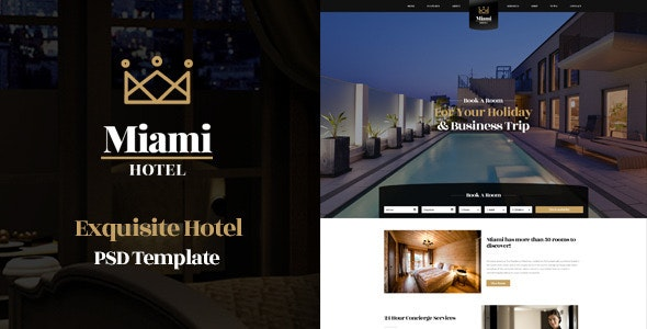Miami - Exquisite Hotel PSD Template - Travel Retail