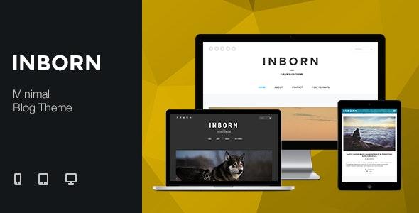 Inborn - Minimal & Clean Blog Theme - Personal Blog / Magazine