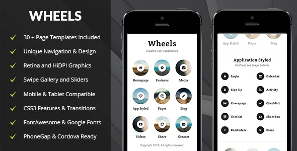 Wheels Mobile - Mobile Site Templates