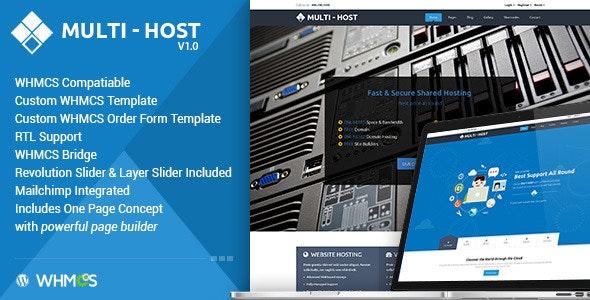 Multi Hosting | WHMCS WordPress Theme - Hosting Technology