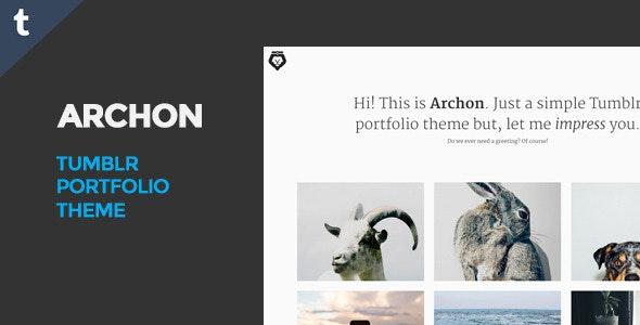 Archon Tumblr Portfolio Theme - Portfolio Tumblr