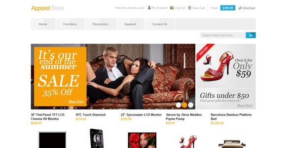 Apparel Store - Shopping Magento