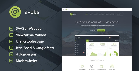 Evoke - WordPress Theme - Software Technology