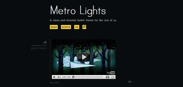 Metro Lights - Blog Tumblr