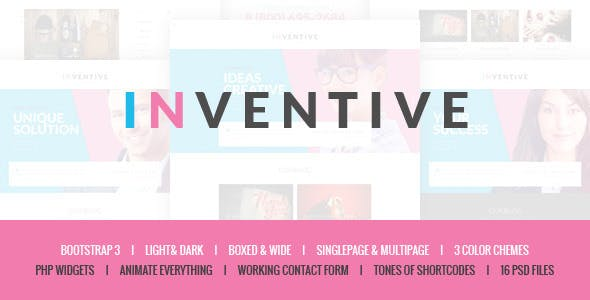 Inventive - Creative Single & Multipage Template