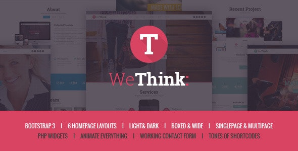 We Think - Single&Multi Page Parallax Template - Site Templates