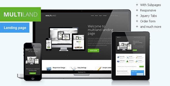 Multiland - Responsive multipurpose landing page - Landing Pages Marketing