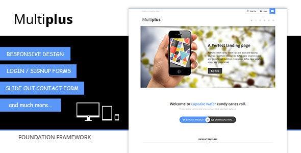 Multiplus - Responsive multipurpose landing page - Landing Pages Marketing