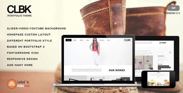 CLBK - Responsive One Page Portfolio Theme - Portfolio Creative