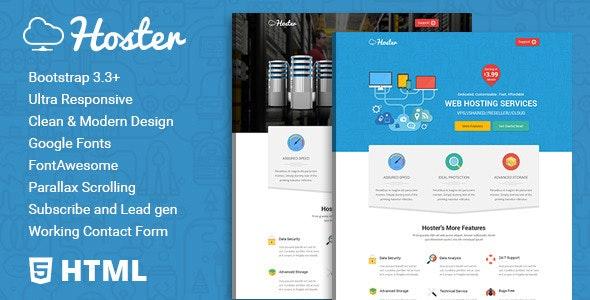 Hoster | Hosting Service HTML Template - Hosting Technology